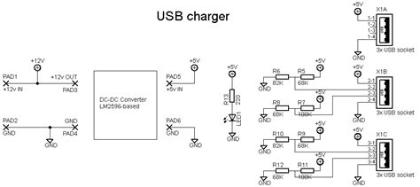 schematic usb charger the wiring diagram readingrat net