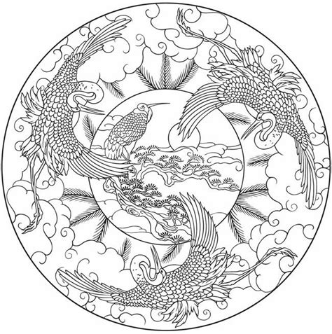 nature themed coloring pages bird mandala to color from nature mandalas coloring book