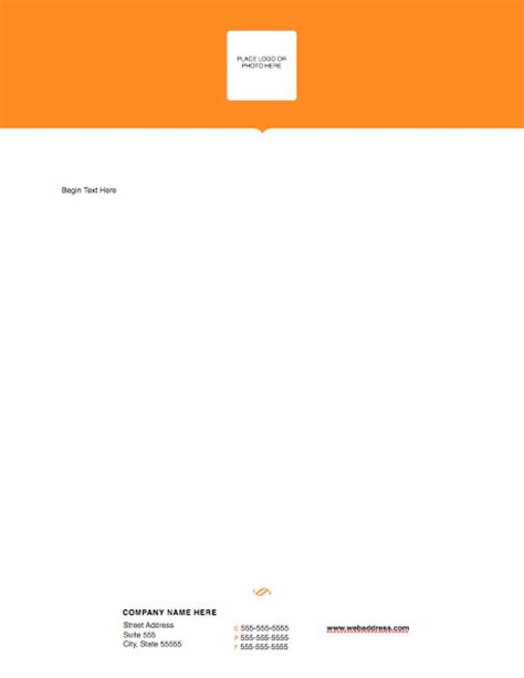 letterhead templates for pages letterhead modern solid pages free iwork templates