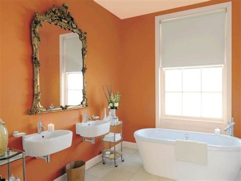 orange bathroom walls 11 best images about bath colors on pinterest orange
