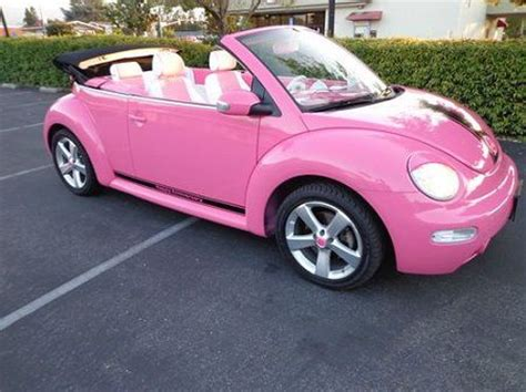 used pink volkswagen beetle vw beetle convertible pink