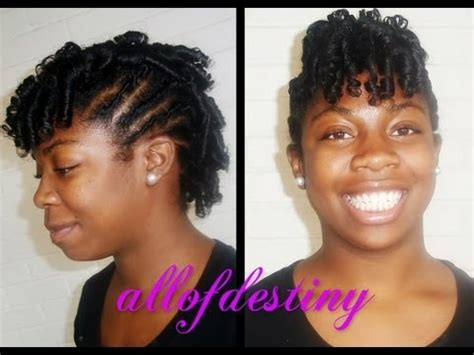 mohawk with flex rods flexi rod mohawk on transitioning hair youtube