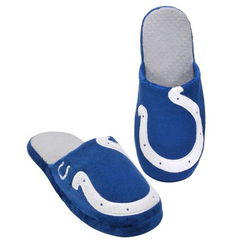 big slippers pair indianapolis colts big logo slippers new two toned