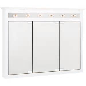 lighted medicine cabinet shop project source 49 5 in x 36 in white lights maple