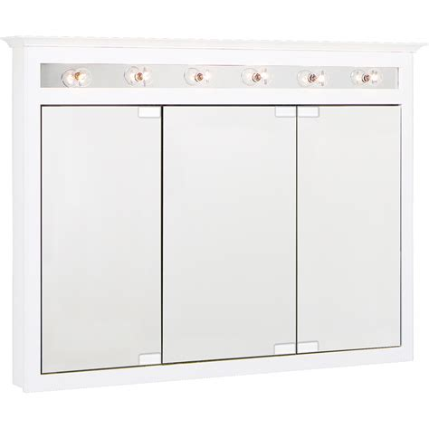 shop project source 36 in shop project source 49 5 in x 36 in white lights maple surface mount medicine cabinet at lowes