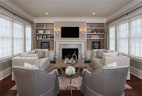 Family Room Window Treatments by Elegant Cozy Living Room Traditional Living Room