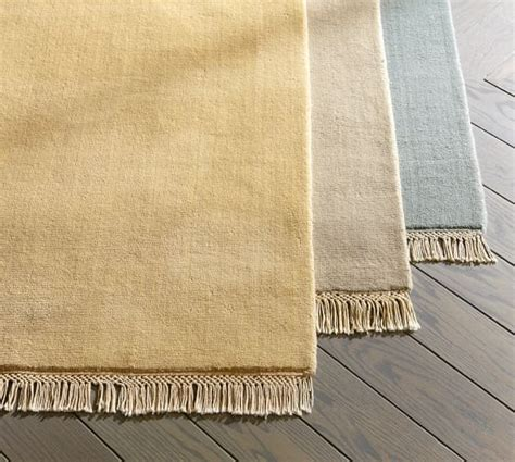 fringed loomed rug swatch pottery barn