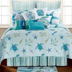 Peacock Comforter Set Imperial Coast Light Blue Sealife Quilt Bedding