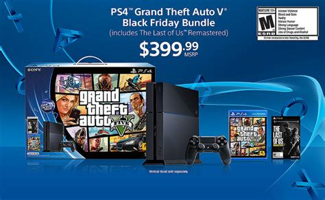 canada best buy black friday deals ps4 gta 5 and the last of us 400 bundle announced gamespot