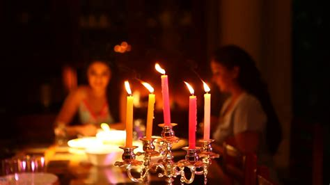 candles for candle light dinner candle light dinner at restaurant stock footage