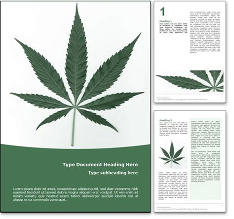 Royalty Free Marijuana Microsoft Word Template In Green Marijuana Website Templates
