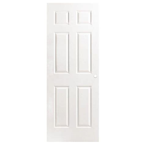 Primed Interior Doors Masonite 32 In X 80 In Primed Textured 6 Panel Hollow Composite Interior Door Slab With
