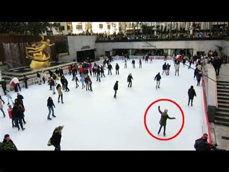 watching people almost fall while ice skating youtube