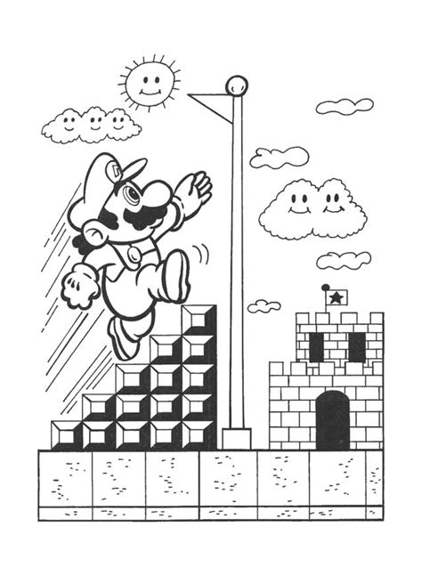 mario bros coloring pages 4u 1000 images about nintendo on pinterest coloring books