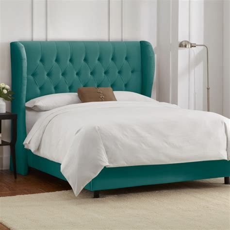 turquoise tufted headboard high tufted headboard