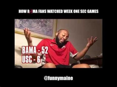 how alabama fans watched how bama fans watched the week one sec 2016 roll