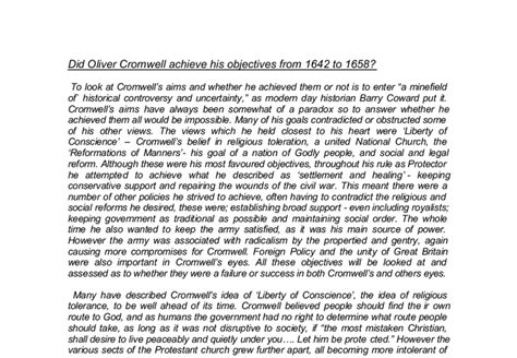 Cbest Essay Tips by Oliver Cromwell Essay Oliver Cromwell Or Villain