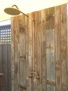 outdoor copper shower fixtures outdoor shower exposed brass and copper barndo
