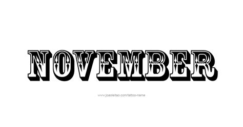 november month name tattoo designs page 2 of 5 tattoos