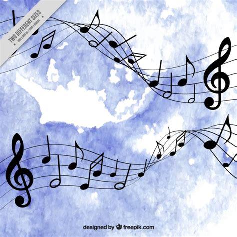 imagenes para fondo de pantalla de notas musicales fondo de acuarelas azul con notas musicales descargar