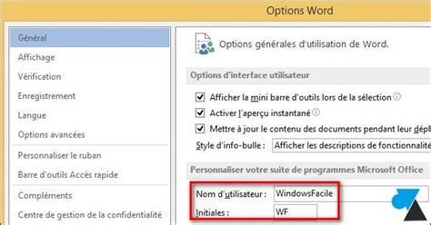 tutoriel powerpoint 2013 gratuit office 2013 changer le nom du propri 233 taire des documents