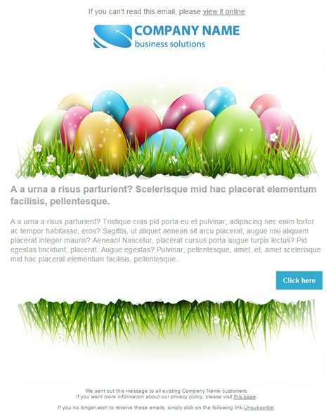 easter email template images