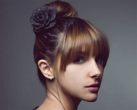 front hairstyles with a bun gorgeous bun with front bangs pehnawae com