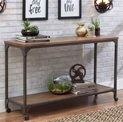console tables for entryway console table for entryway rustic industrial wood metal