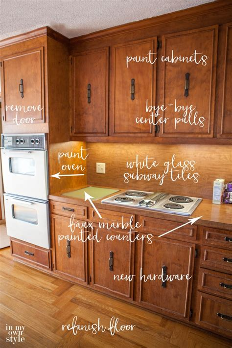 70s cabinets kitchen makeover plans bye bye 1970 s in my own style