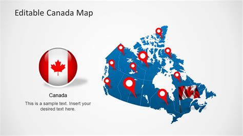 Editable Canada Map Template For Powerpoint Slidemodel Canada Powerpoint Template
