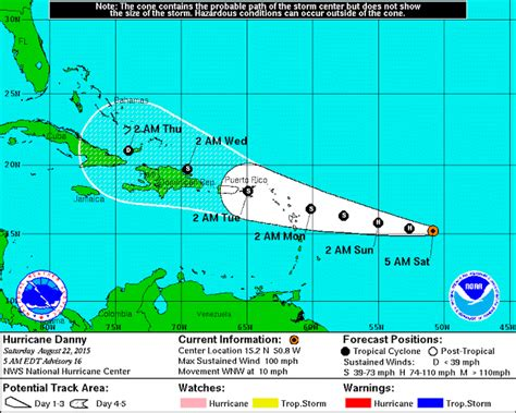 2015 projected path hurricane danny hurricane danny s project path changes