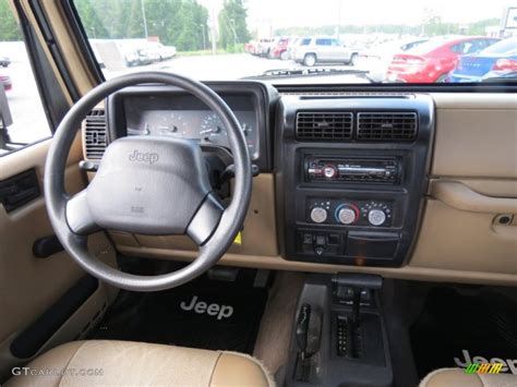 jeep wrangler dashboard 2000 jeep wrangler sport 4x4 camel dashboard photo
