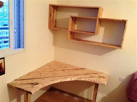 make a desk out of bookshelves diy pallet desk with art style shelves