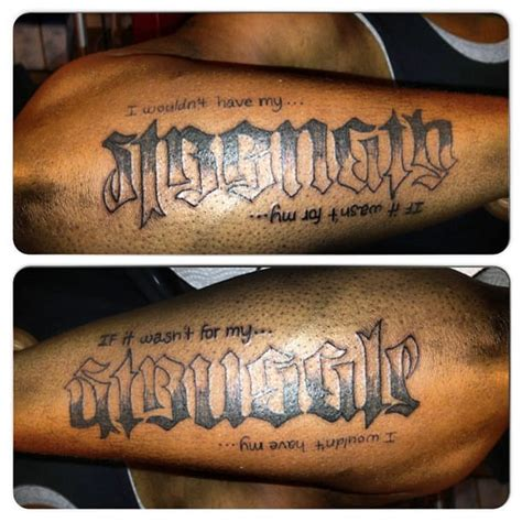 struggle tattoos ambigram tattoos strength struggle creativefan