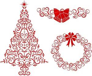 christmas tree wreath and bells free vector in adobe