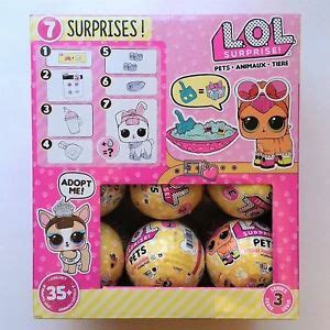 Sold Out Lol Pet Series Wave 2 1 lol pets series 3 box of 18 balls with display ebay