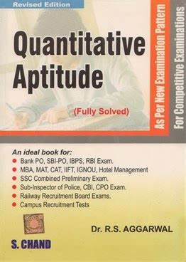 Mathematics For Mba By Rs Aggarwal Pdf by Rs Aggarwal Quantitative Aptitude Book Pdf Ssc