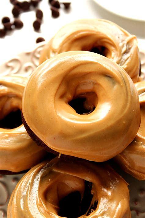 Chocolate Glaze Donut Glaze peanut butter glazed chocolate donuts recipe crunchy