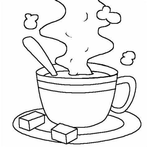 cup of hot chocolate milk free kids coloring to print