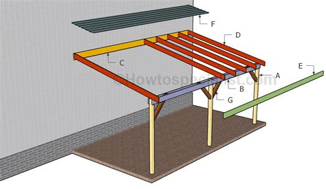 carport plans attached to house how to build an attached carport howtospecialist how