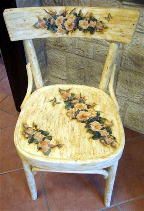 decoupage su sedie di legno sedie ideekreative