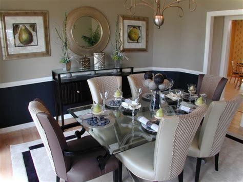 formal dining table decor with candle centerpieces