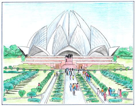 lotus temple by shaneez on deviantart