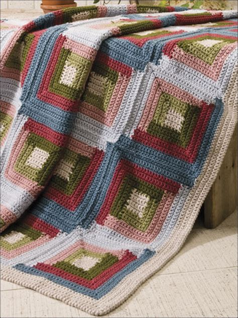 net logging pattern crocheted log cabin pattern crochet and knitting patterns