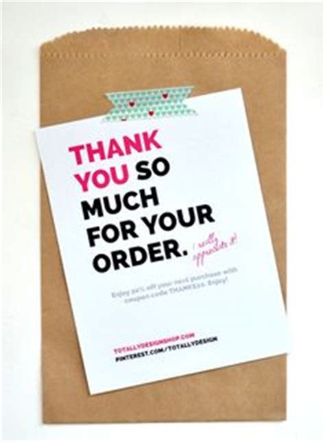 Thank You Letter Purchase Order Received label for thank you for and handmade on