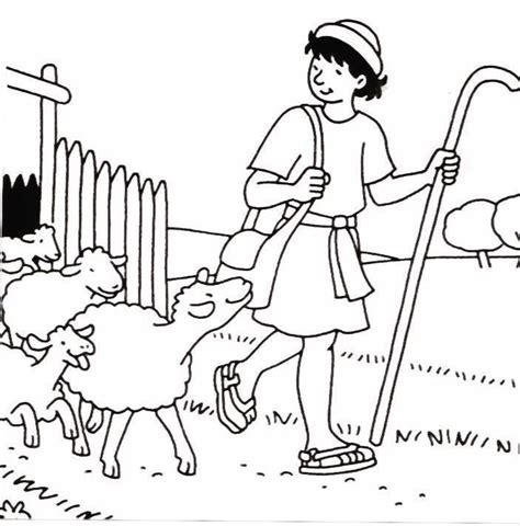 coloring page david the shepherd boy 16 best psalm 23 images on pinterest psalm 23 sunday
