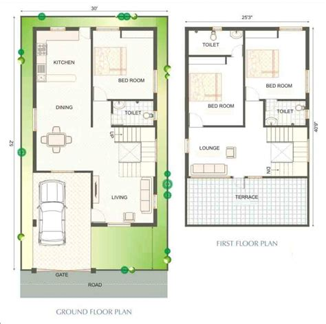 Duplex Home Plan by Duplex House Plans India 900 Sq Ft Projetos At 233 100 M2