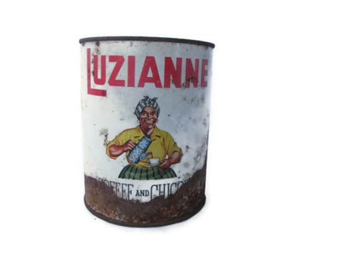 Vintage Luzianne Coffee and Chicory Tin Can/African