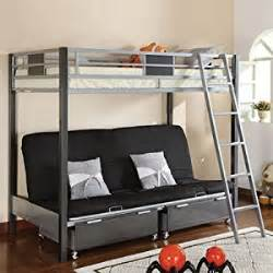 cletis iii size metal finish bunk bed w