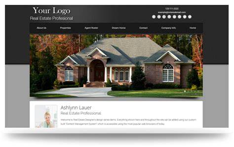 Real Estate Website Templates Realtor Website Design Templates